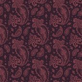 Seamless Paisley background.
