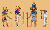 stock photo of bastet  - Various Egyptian gods. 