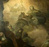interiors of Santa Chiara church, Naples Italy