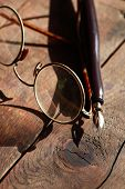 Old Spectacles And Pen