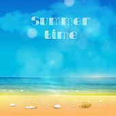 Summer Time, summer background with place for your text easy all editable
