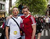 Gay Couple Dressed As Football Players.