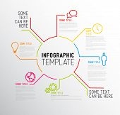 picture of promoter  - Vector Infographic report template made from lines and icons - JPG