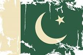stock photo of pakistani flag  - Pakistani grunge flag - JPG