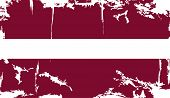 Latvian grunge flag. Vector illustration