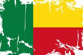 Benin grunge flag. Vector illustration