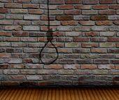Brick Wall  And Shadow Gallows