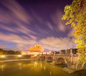 Castle and bridge of Holy Angel Rome, Italy
