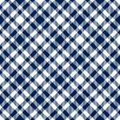 Checkered Tablecloths Pattern Blue - Endlessly