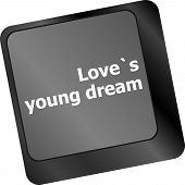 Love S Young Dream On Key Or Keyboard Showing Internet Dating Concept