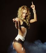 young sexy striptease dancer