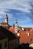 View Of St Jost Church And Cesky Krumlov Castle
