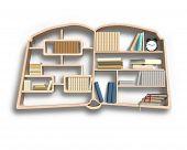 Bookshelf In Book Shape