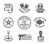 Diving label set