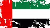 UAE grunge flag. Vector illustration