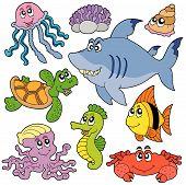 Coleção de peixes e animais do mar 2