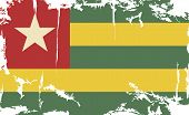 Togo grunge flag. Vector illustration
