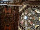 Dome Of Candelaria Church In Brasil