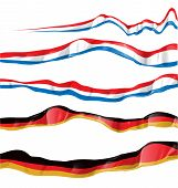 France And Germany Flag Set