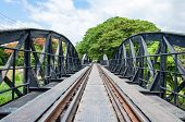 Bridge Over The River Kwai In Kanchanaburi Province, Thailand