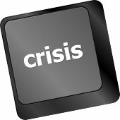 Crisis Risk Management Key Showing Business Insurance Concept