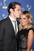 LOS ANGELES - JUN 20:  Christopher French, Ashley Tisdale at the 2014 Creative Daytime Emmy Awards a