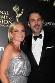 LOS ANGELES - JUN 22:  Maura West, Ron Carlivati at the 2014 Daytime Emmy Awards Arrivals at the Beverly Hilton Hotel on June 22, 2014 in Beverly Hills, CA