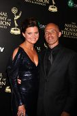 LOS ANGELES - JUN 22:  Heather Tom, James Achor at the 2014 Daytime Emmy Awards Arrivals at the Beve