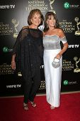 BEVERLY HILLS - JUN 22: Hillary B. Smith, Kate Linder at The 41st Annual Daytime Emmy Awards Press R