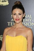 BEVERLY HILLS - JUN 22: Elizabeth Hendrickson at The 41st Annual Daytime Emmy Awards Press Room at T
