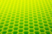Yellow green hexagon abstract background. hexagonal structure.