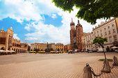 Beautiful Saint Mary's Basilica and Rynek Glowny