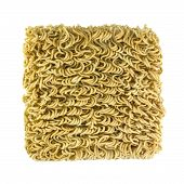 Ramen Instant Noodles On White Background