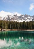 Dolomites Alps and lake, Italy