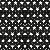 Star Monochrome Seamless Texture