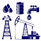 Oil industry icon  set symbol vector  illustration