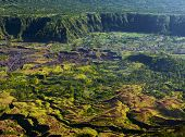 Villages situated in the caldera of old giant volcano. Bali, Indonesia