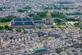View Of Paris And Les Invalides From The Eiffel Tower, France