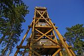 Wooden lookout tower