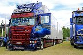 Scania R560 Truck And Full Trailer With Artwork
