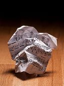 Crumpled Sheet Of Music Notes