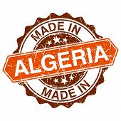 Made In Algeria Vintage Stamp Isolated On White Background