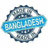 Made In Bangladesh Vintage Stamp Isolated On White Background
