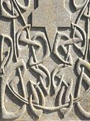 Celtic carving on gravestone