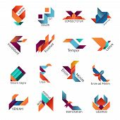 Origami business emblem templates