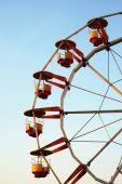 Ferris Wheel At Dusk In Autumn