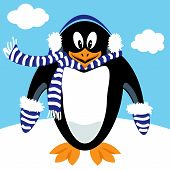 Cartoon Penguin Winter Gear