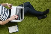 Teenage girl with laptop