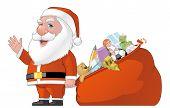Santa And Gifts Bag