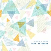 Vector abstract fabric triangles frame corner pattern background
